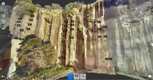3D Laser Scan of Cliff Line Deformation Survey - Bombo NSW